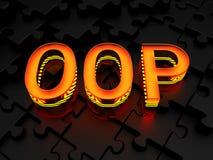 OOP - Object-oriented programming. OOP (Object-oriented programming) - computer generated image (3d render Stock Image