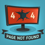 Oops, знамя сети ошибки 404 найденная не страница Стоковое фото RF