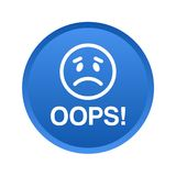 Oops кнопка значка иллюстрация штока