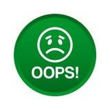 Oops кнопка значка иллюстрация вектора