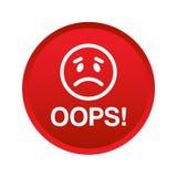 Oops кнопка значка бесплатная иллюстрация