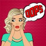 oops Blondynki zdziwiona młoda kobieta Zdjęcie Stock