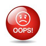 Oops bottone dell'icona Immagini Stock Libere da Diritti