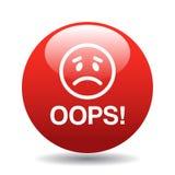 Oops bottone dell'icona Fotografia Stock