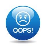 Oops bottone dell'icona Immagine Stock Libera da Diritti
