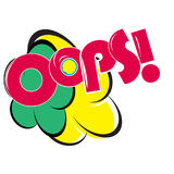 OOPS! comic sound Design .Abstract Colorful Template Design Royalty Free Stock Images
