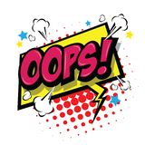 Oops! Commic Speech Bubbe. Vector Eps 10. Royalty Free Stock Images