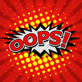 Oops! - Commic Speech Bubbel, Cartoon Royalty Free Stock Image