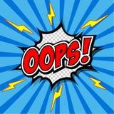 Oops! - Commic Speech Bubbel, Cartoon. Royalty Free Stock Photo