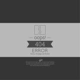 oops Erro 404 Pesaroso, página não encontrada Imagem de Stock Royalty Free