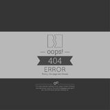 Oops. 404 error. Sorry, page not found. Vector. for web pages, mobile applications, with technical malfunctions and removing web resource. banner with the Royalty Free Stock Image
