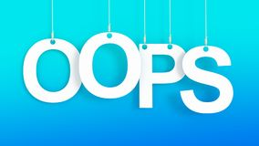 OOPS hanging letters Stock Image