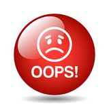 Oops icon button royalty free stock images