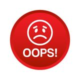 Oops icon button stock images