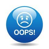 Oops icon button royalty free stock image