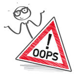 Oops -  illustration Stock Photography