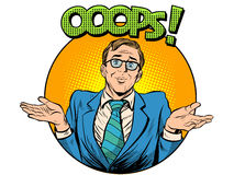 Oops problem man business concept Stock Image