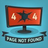 Oops rengöringsdukbaner för fel 404 funnen inte sida Royaltyfri Foto