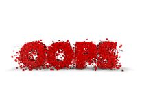 Oops shattered 3d text. Royalty Free Stock Image