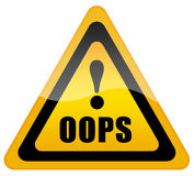Oops sign vector illustration