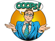 Oops surprised businessman vector illustration