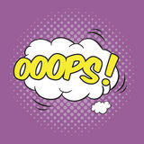 OOPS! Wording Sound Effect. For comic speech bubble Stock Photo