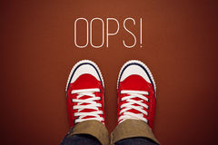 Oops, Young Person Made a Mistake Stock Photography