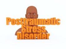 oordning för huvud 3d och för posttraumatic spänning royaltyfri bild