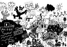 Oorlog royalty-vrije illustratie