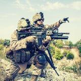 Oorlog in bergen stock afbeelding