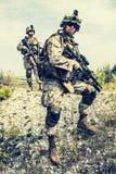 Oorlog in bergen stock foto's