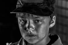 Oorlog en kinderjaren Stock Afbeelding