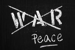 Oorlog en Vrede Royalty-vrije Stock Foto