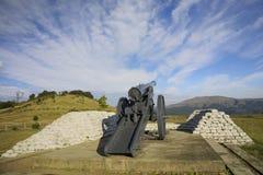 Oorlog, Lange Tom Gun Stock Foto's