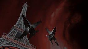 Oorlog op Parijs Stock Fotografie