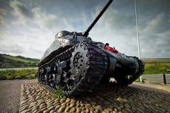 Oorlog van de wereld 2 gedenkteken in Slapton, Engeland Stock Afbeeldingen