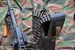 Oorlog van de wereld 2 machinegeweer Stock Afbeeldingen