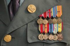 Oorlog van de wereld Twee Medailles Royalty-vrije Stock Foto's