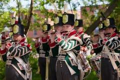 Oorlog van het weer invoeren 1812 van het marcheren band royalty-vrije stock foto's