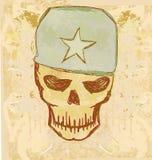 Oorlogs grunge schedel Stock Fotografie