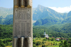 Oorlogsgedenkteken buiten Dreznica Royalty-vrije Stock Afbeeldingen