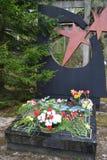 Oorlogsgedenkteken in Leningrad Oblast Royalty-vrije Stock Foto's
