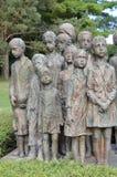 Oorlogsgedenkteken in Lidice Stock Afbeelding