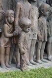 Oorlogsgedenkteken in Lidice-dorp Royalty-vrije Stock Afbeeldingen