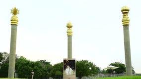 Oorlogsgedenktekens in Chennai in India Rajiv Gandhi Memorial - Rajiv Gandhi, de vroegere Eerste minister van India stock videobeelden