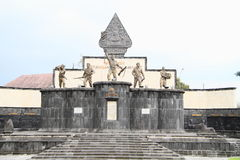 Oorlogsmonument in Yogyakarta royalty-vrije stock afbeelding