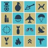Oorlogspictogrammen Vector illustratie Stock Afbeelding