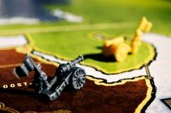 Oorlogsscène met een raadsspel Royalty-vrije Stock Foto's