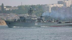 Oorlogsschepen en onderzeeërs stock video