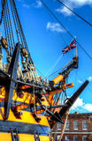 Oorlogsschip - HMS-Overwinning Stock Afbeeldingen